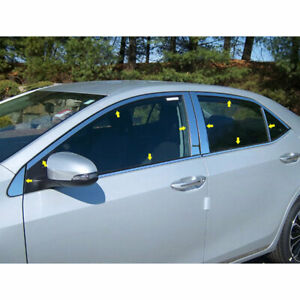 Luxury Fx Chrome Window Package posts Window Sill For 2014 19 Toyota Corolla