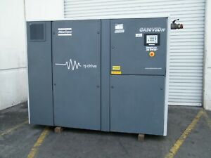 Atlas Copco Ga90vsd Ff 125 Hp Rotary Screw Air Compressor Dryer Kaeser Sullair