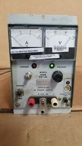 Kikusui Pad55 3l Regulated Dc Power Supply 0 55v 0 3a Good