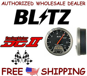Blitz Dcii 19284 Racing Meter Temperature Gauge Carbon Face New In Box