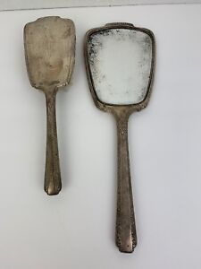 Vintage Webster Sterling Silver Grooming Vanity Set Hand Mirror Brush Monogram
