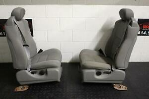 99 10 Ford F250 F350 Front Jump Seats Grey Cloth 2005 Right Left