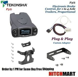 P3 Trailer Brake Control W Adapter For 2015 2017 Tundra 2016 2019 Tacoma 90195