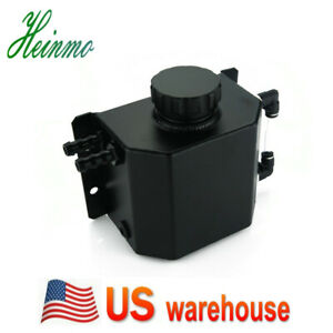 Universal 1l Alloy Oil Catch Can Tank Reservoir W Drain Plug For Gm Chevy Ford