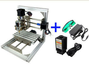 No Vat 3 Axis Cnc Mini Milling Engraving Machine Router Diy 500mw Laser Power