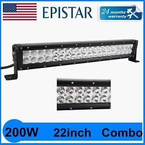 200w 22 Inch Led Work Roof Light Bar Spot Flood Combo Off Road 4x4 40leds 12v24v