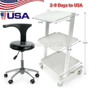 Dentist Doctor Assistant Stool Adjustable Mobile Chair Pu Leather medical Cart D