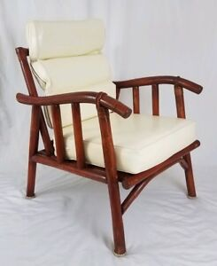 Mid Century Rattan Armchair Chair Mcguire Ficks Reed Chippendale Vintage