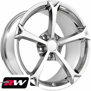 18 X9 5 19 X12 Inch Wheels For 2010 2013 Corvette Grand Sport C6 Chrome Rims