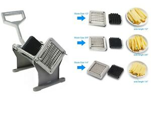 Heavy Duty French Fry Cutter Commercial Potato Fries Chip Slicer Vegetable Fruit
