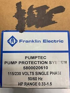 Franklin Electric 5800020610 Motor Protector Single Phase 115 230v
