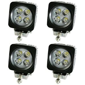4pods Led Work Light Flood Lights For Truck Off Road Tractor 12v 24v Square 2 5