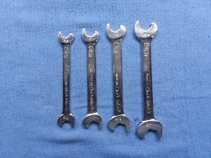 Snap On Open End Combo Speed Ratchet Type Wrenches 4pc