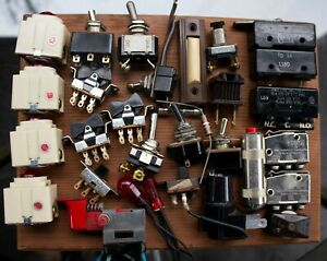 Vintage Lot Of High Quality Toggle Switches Lights Ms Ch Acro A h h Klixon