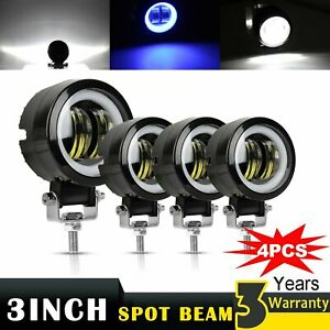 4pcs 3inch 20w Led Working Light Lamp For Motorcycle Tractor Boat Suv Round