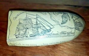 Scrimshaw Replica Whale Tooth The Susan Ship Whaling Nantucket Msrp 170 200