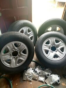 4 Genuine Toyota Tundra 18 In Wheels Tires 255 70r18 Oem Factory Rare Michelin