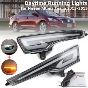 Led Drl Running Light Turn Signal Lamp For Nissan Altima Teana 2013 2014 2015