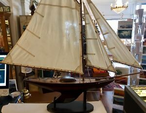 Authentic Models Ironsides Small Yacht Nautical Ship Boat Sailboat Model