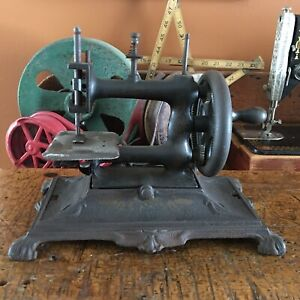 Antique Muller Sewing Machine Model 12 Cast Iron Toy Child Machine Very Rare