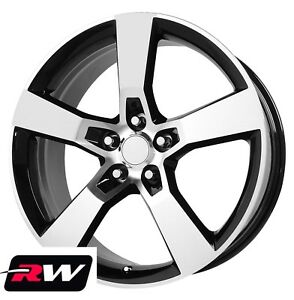 20 Inch 20 X9 Chevy Camaro Ss Oe Factory Replica Wheels Machined Black Rims