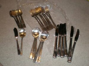 Vintage Wm A Rogers Aa Heavy Oneida Ltd Lady Drake Silverplate Flatware