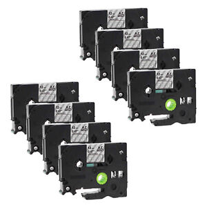 8 Pack White On Clear Tz 135 Tze 135 Tape For Brother 12mm Pt h100 Label Maker