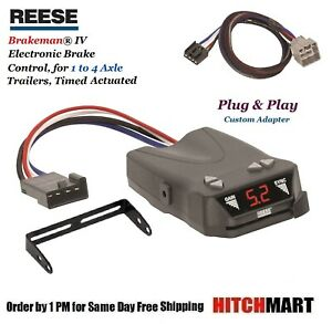 Reese Trailer Brake Control W Adapter For 2015 2019 Ram 1500 2500 3500 83504