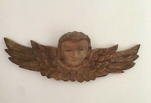 Carved Wooden Putti Angel