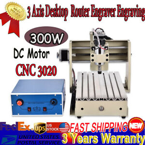 Usb 3axis Cnc 3020 Router Engraer Carving Milling Machine Pcb cnc Stepping Motor