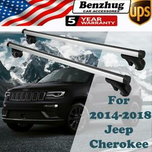 For 2014 2018 Jeep Cherokee Roof Rail Rack Luggage Cross Bars Basket Carrier Us