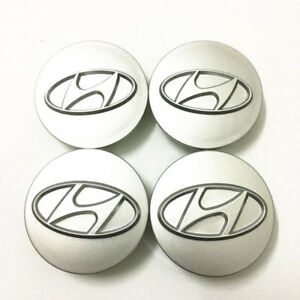 4pcs 60mm Wheel Center Hub Caps Logo Badge Emblem Sticker For Hyundai 8th Sonata