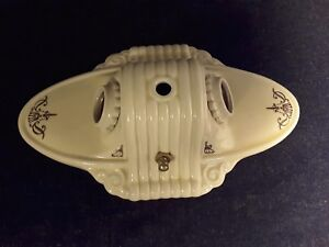 Vintage Victorian Porcelain Light Fixture W Switch Ready To Install Beautiful