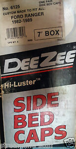 Dee Zee 6125 Side Bed Caps For 82 89 Ford Ranger Long Bed 83 84 85 86 87 88 89