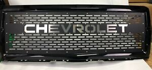 2014 2015 Chevrolet Silverado 1500 Replacement Grille Laser Cut Insert W Shell