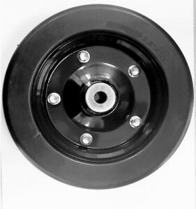 10 X 3 25 Solid Finish Mower Wheel With 5 8 Id Bushings For Axle Hole