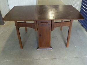 Antique Drop Leaf Table With Storage