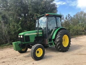 2004 John Deere 5520 Enclosed Cab Tractor With Ac Heat Stereo