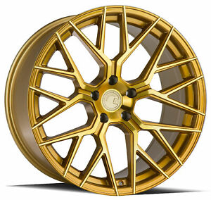 20x9 20x10 5 Aodhan Ls009 5x120 30 35 Gold Rims new Set