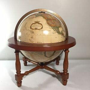 Replogle 12 World Classic Series Raised Relief Tabletop Globe With Wood Stand