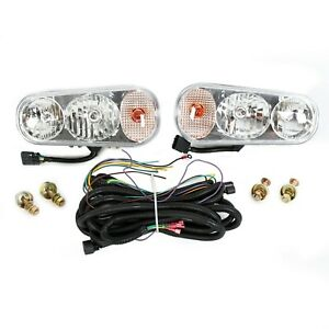 Universal Snow Plow Lights Halogen W Harness For Boss Western Meyer Blizzard