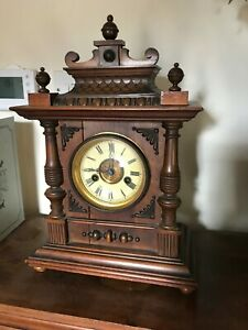 German Hac Mantle Clock 14 Day Strike No 3150