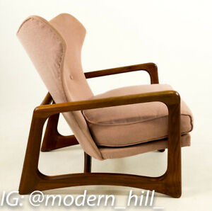 Vtg Mcm Pink Adrian Pearsall Craft Associates 2466 C Wingback Lounge Chair