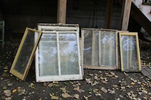 18 Antique Vintage Window Sashes Frames From 1920s 30s Chicago House