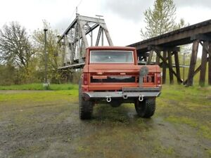 1966 1977 Ford Bronco Rear Tow Bumper W Tire Carrier Raw Steel