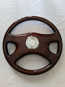 Raptor 16 Dark Walnut Wood Grain Steering Wheel Silver