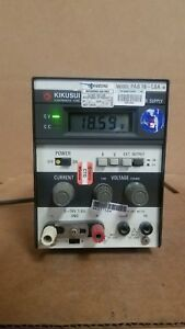 Kikusui Pab18 1 8a Dc Power Supply Good