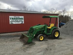 2001 John Deere 4200 4x4 Hydro Compact Tractor W Loader One Owner Only 393 Hrs