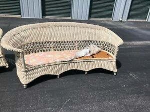 Gorgeous Antique 1920 S Bar Harbor Wicker Couch Chair And Rocker Set