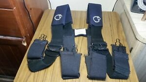 Lion Apparel Firefighter Suspenders Black Padded H style Model Sb348 10
